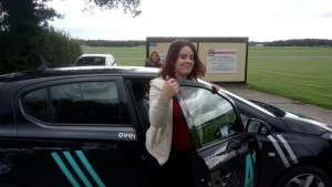Amena driving at Dunsfold